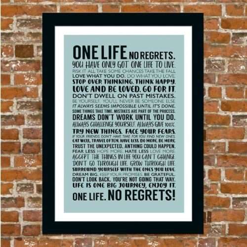 ONE LIFE. NO REGRETS! (DUCK EGG)